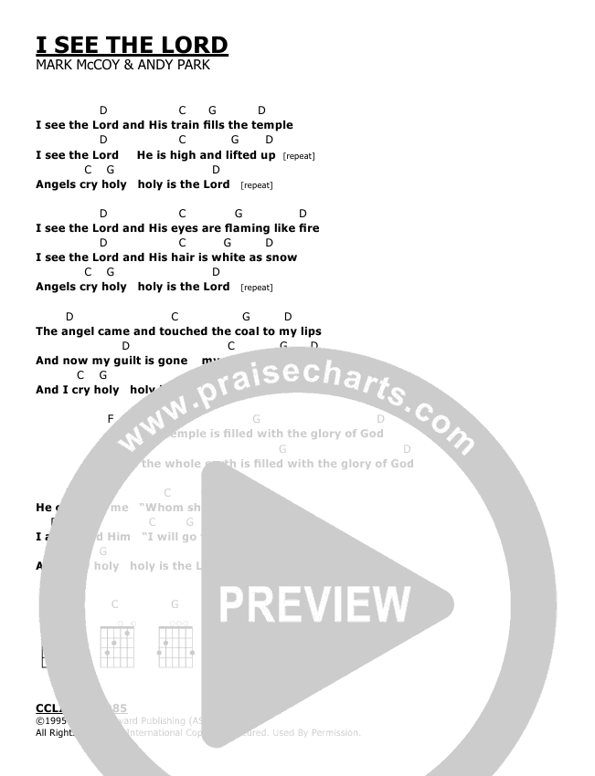 I See The Lord Chords - Andy Park | PraiseCharts