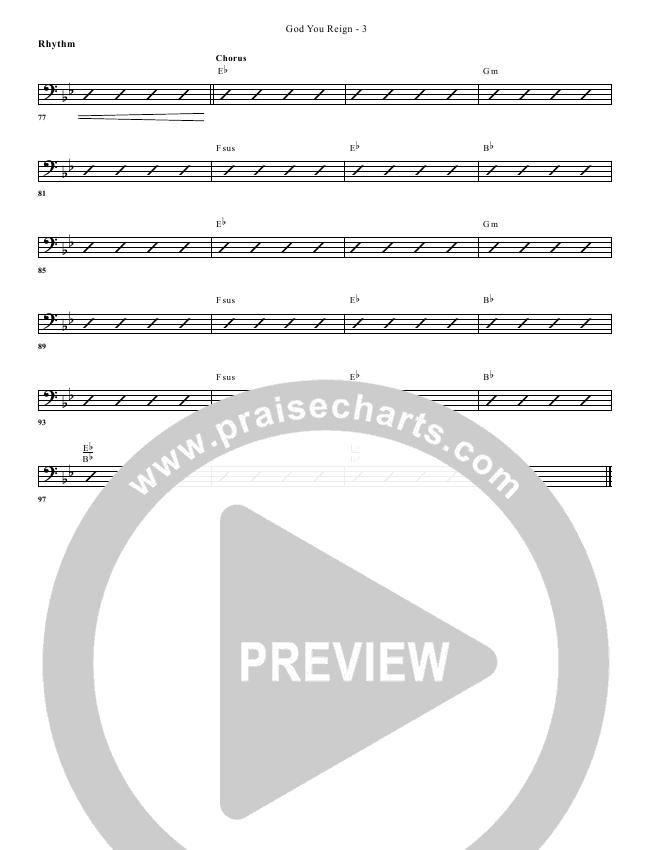 God You Reign Rhythm Chart (G3 Worship)