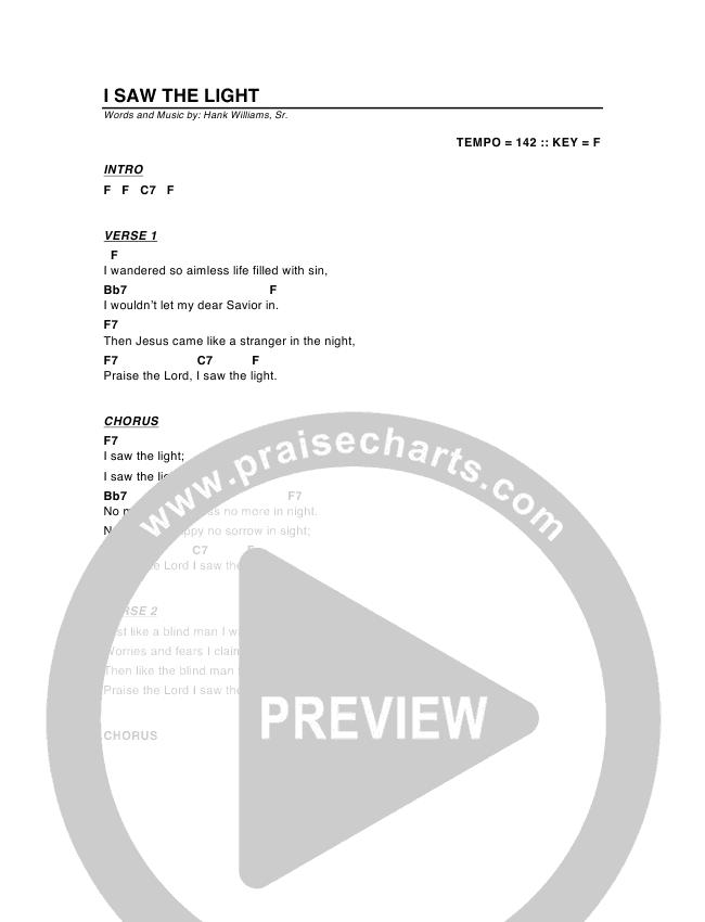 I Saw The Light Chords - G3 Worship | PraiseCharts