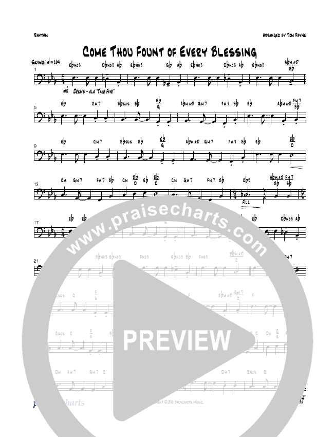Come Thou Fount Of Every Blessing Rhythm Chart - Tom Payne ...