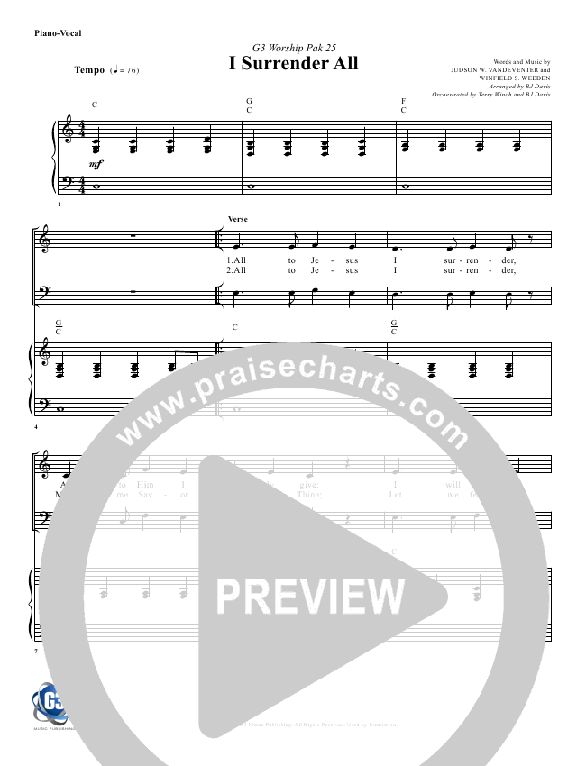 I Surrender All Orchestration & Finale (G3 Worship)
