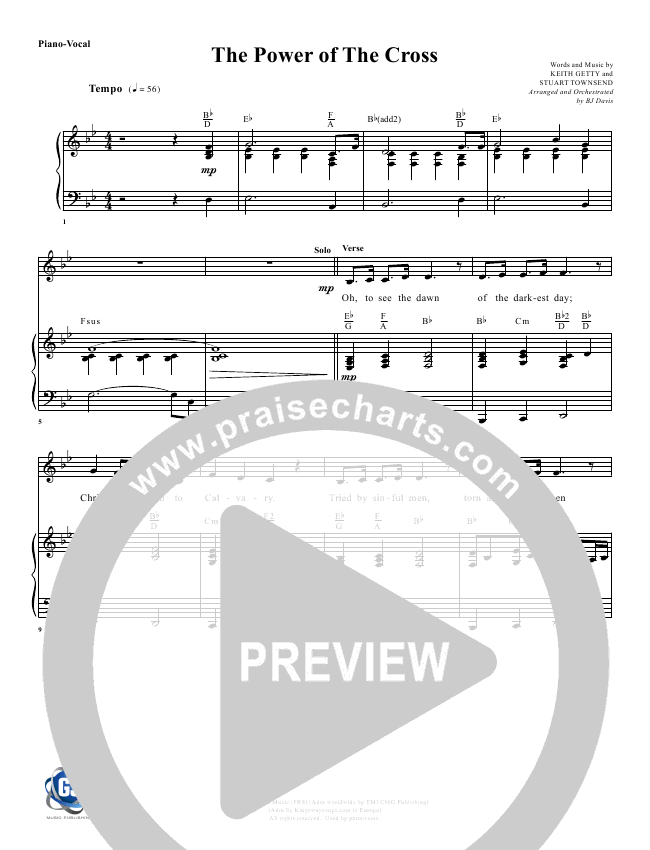 The Power Of The Cross Orchestration G3 Worship Praisecharts