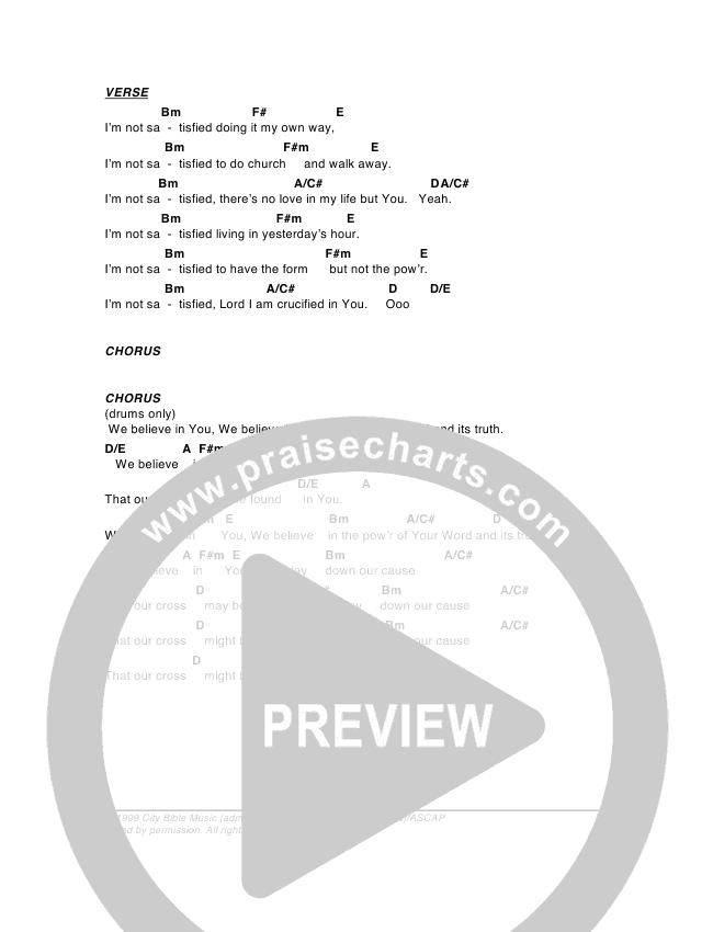 Believe Chord Chart (G3 Worship)