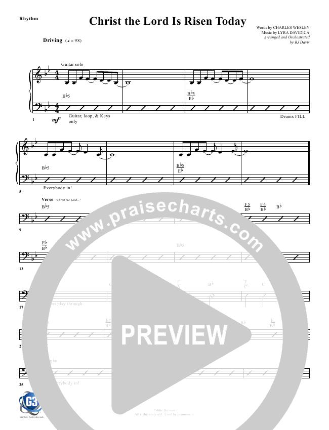 Christ The Lord Is Risen Today Rhythm Chart - G3 Worship | PraiseCharts
