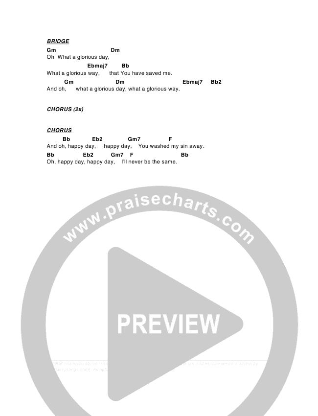 Happy Day Chord Chart (G3 Worship)