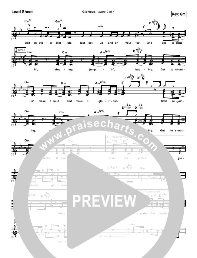 Glorious Lead Sheet & Piano/Vocal - Martha Munizzi