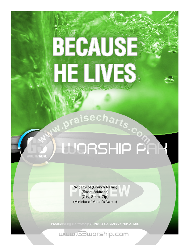 Because He Lives Orchestration (G3 Worship)