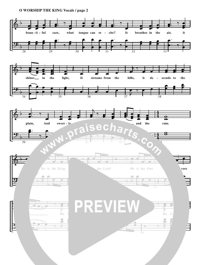 O Worship The King Lead & Piano (G3 Worship)