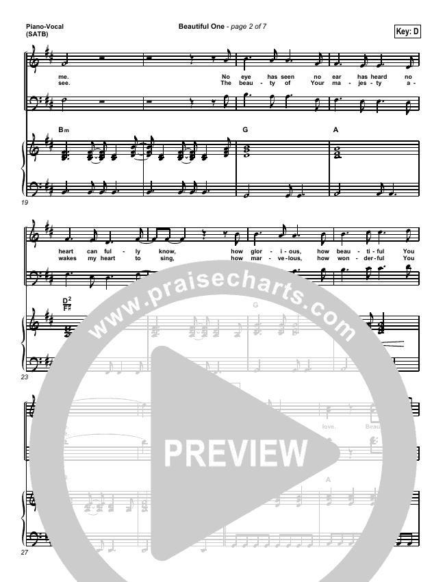 Beautiful One Piano/Vocal (SATB) (Tim Hughes)
