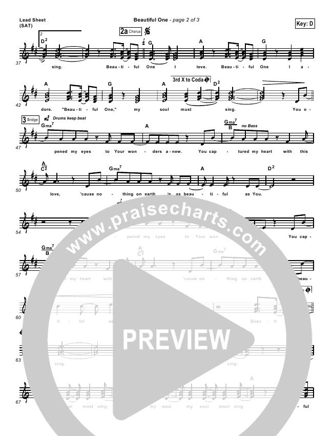 Beautiful One Lead & Piano/Vocal (Tim Hughes)