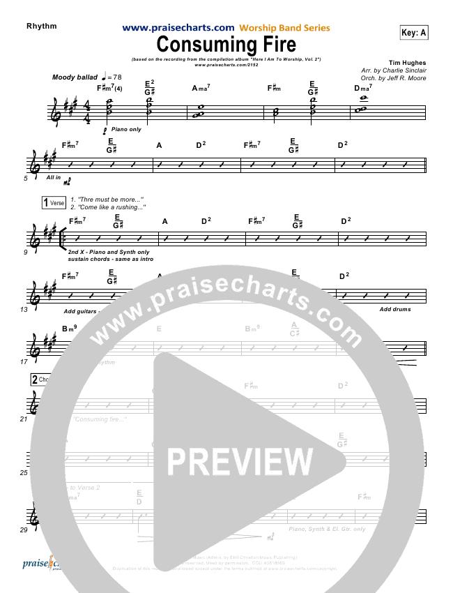 Consuming Fire Rhythm Chart Tim Hughes Praisecharts