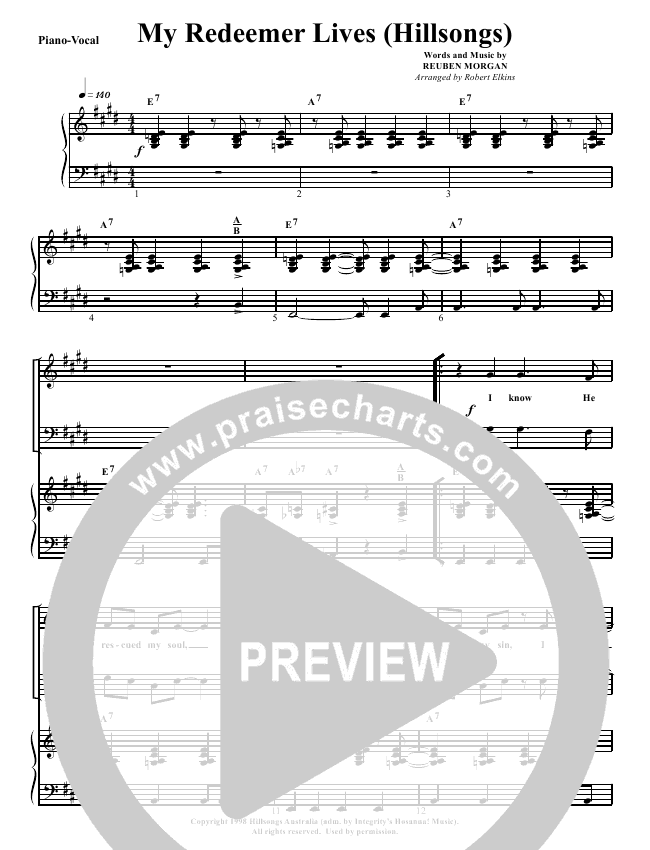 My Redeemer Lives Orchestration G3 Worship Praisecharts