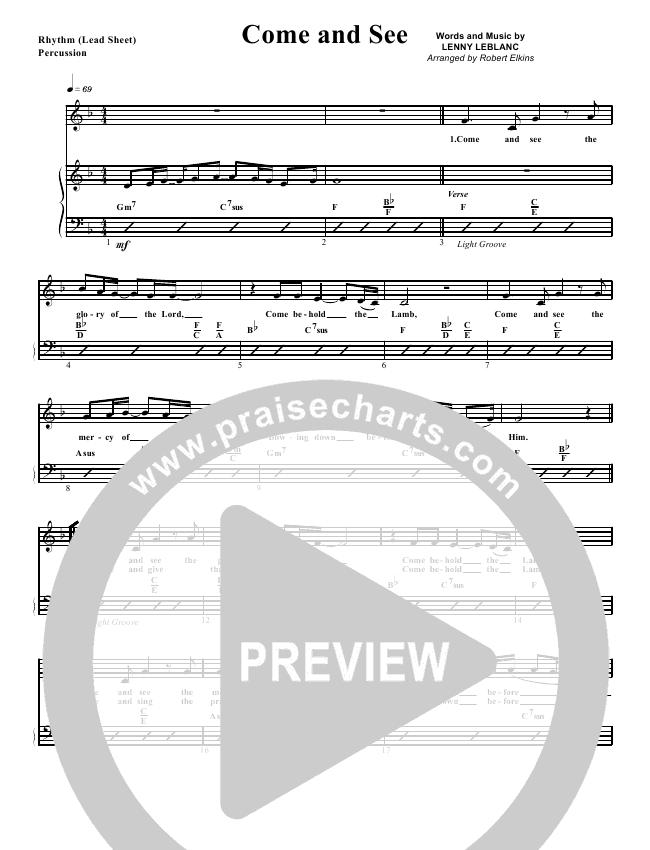 Come And See Rhythm Chart (G3 Worship)