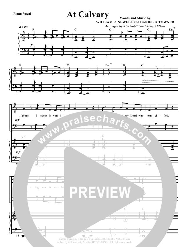 At Calvary Lead Sheet Pianovocal G3 Worship Praisecharts