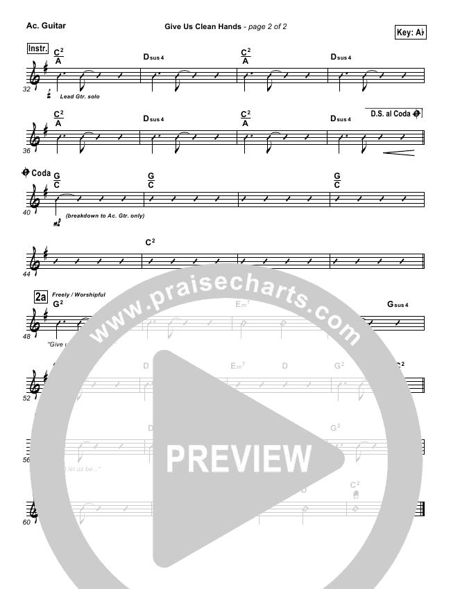 Give Us Clean Hands Rhythm Chart (Charlie Hall)
