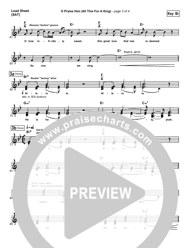 O Praise Him Lead & Piano/Vocal (David Crowder)