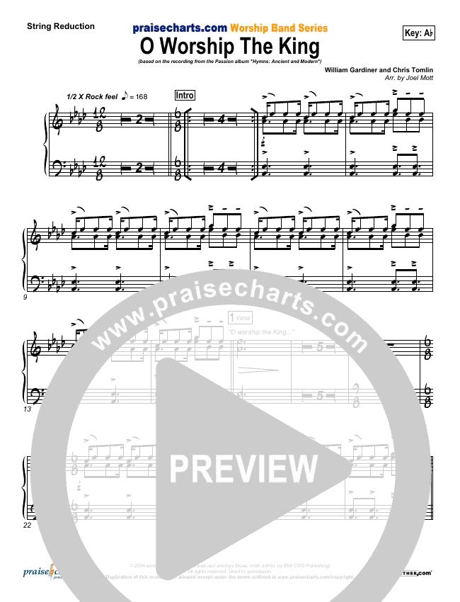 O Worship The King String Pack (Chris Tomlin / Passion)