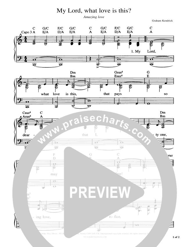 Amazing Love Piano/Vocal (Graham Kendrick)