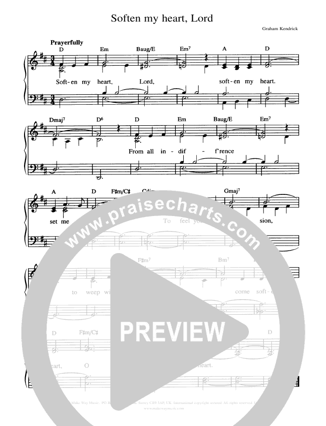 Soften My Heart Lord Piano/Vocal (Graham Kendrick)