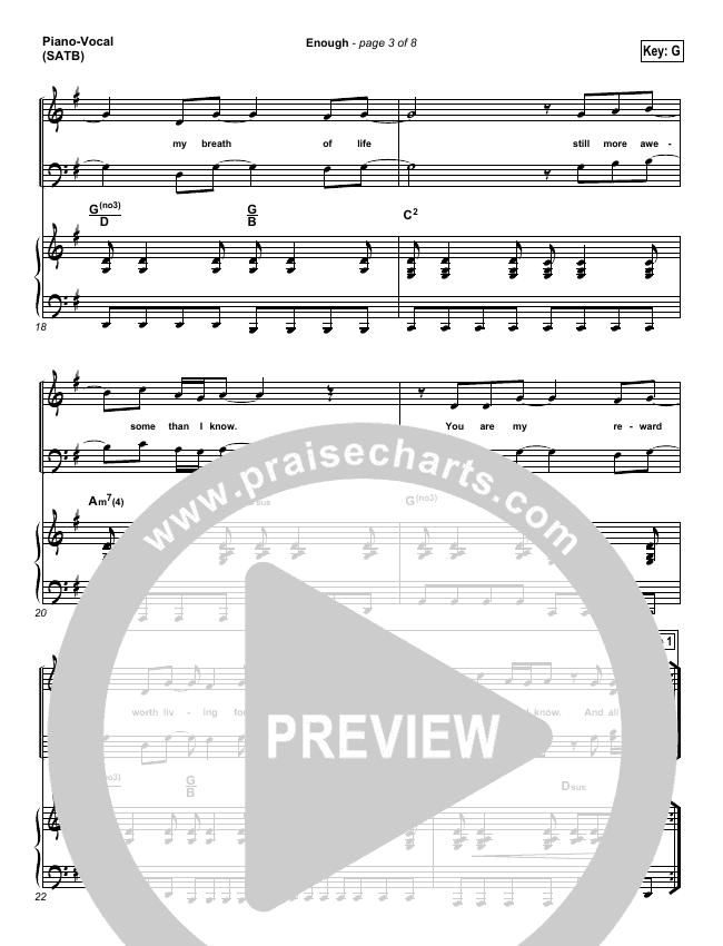 Enough Piano/Vocal (SATB) (Chris Tomlin / Passion)