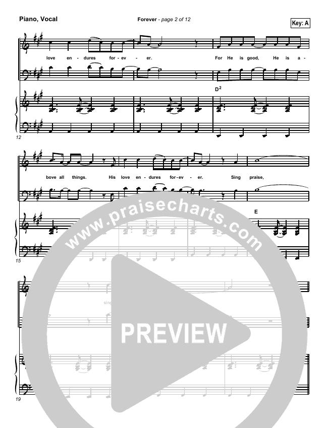 Forever Piano/Vocal (SATB) (Chris Tomlin)