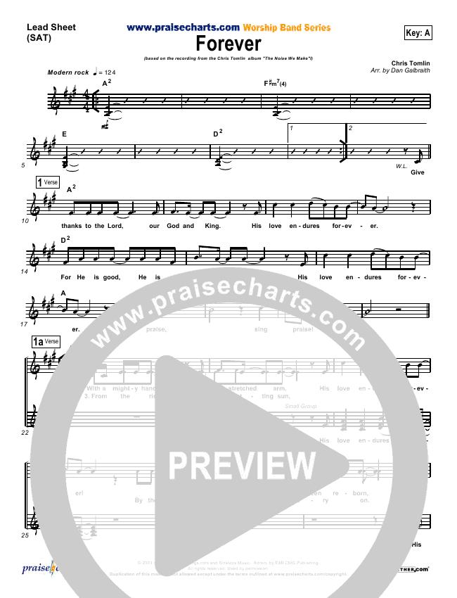 Forever Orchestration Chris Tomlin Praisecharts
