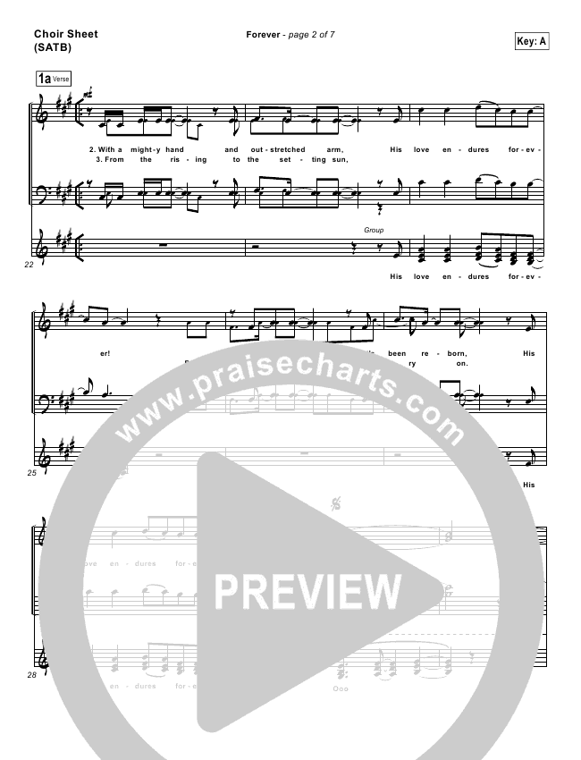 forever chris tomlin sheet music pdf