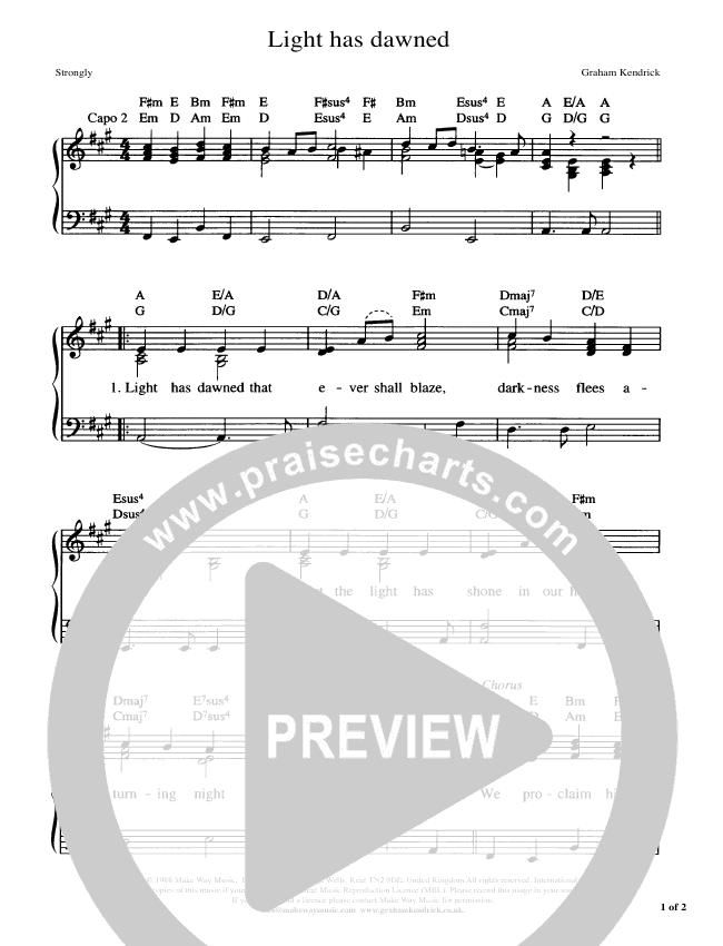 Light Has Dawned Piano/Vocal (Graham Kendrick)