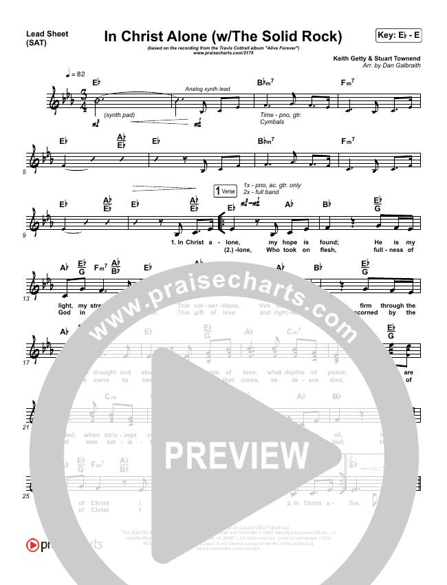 In Christ Alone Lead Sheet (SAT) (Travis Cottrell)