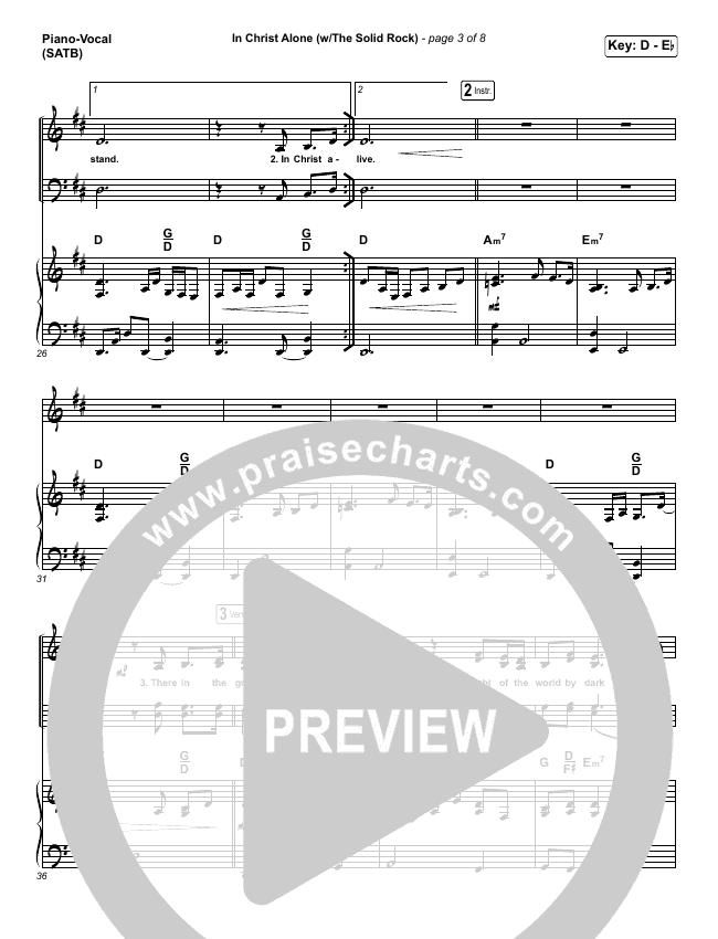 In Christ Alone Piano/Vocal (SATB) (Travis Cottrell)