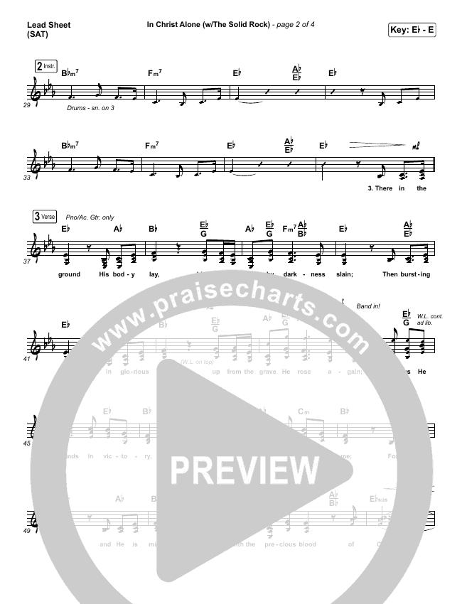 In Christ Alone Lead & Piano/Vocal (Travis Cottrell)