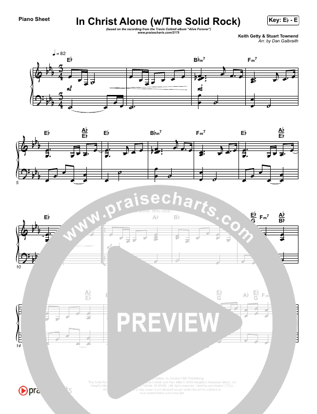 In Christ Alone Piano Sheet (Travis Cottrell)