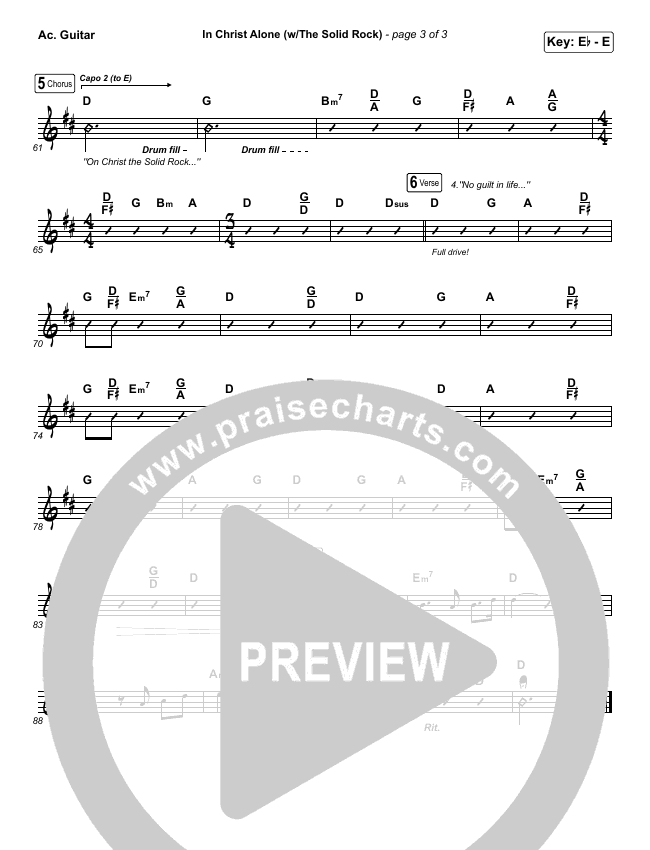 In Christ Alone Rhythm Chart (Travis Cottrell)