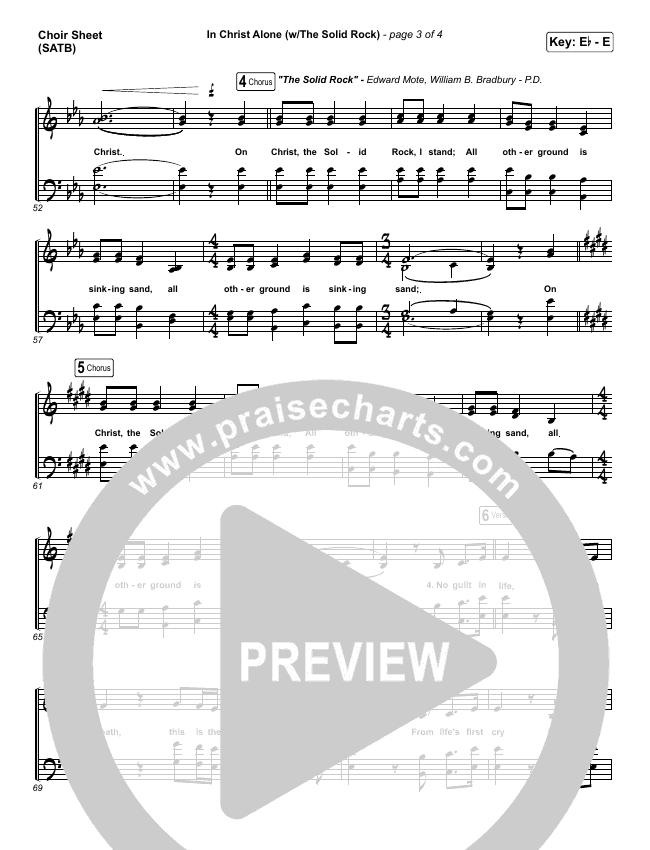 In Christ Alone Choir Sheet (SATB) (Travis Cottrell)