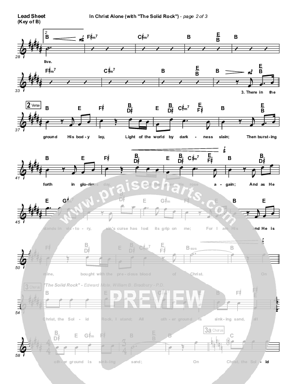 In Christ Alone Lead Sheet (Melody) (Travis Cottrell)