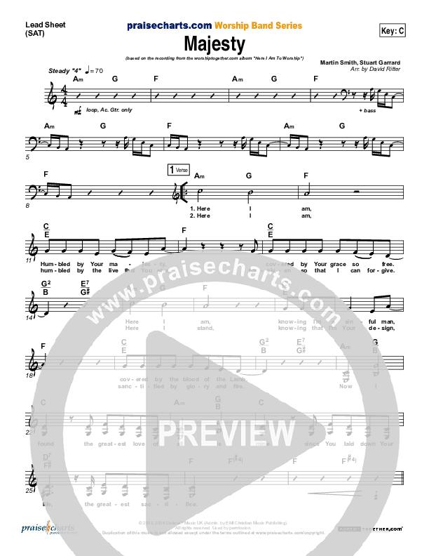 Majesty Lead Sheet (SAT) (Delirious)