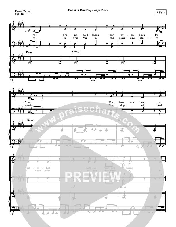 Better Is One Day Piano/Vocal (SATB) (Matt Redman)