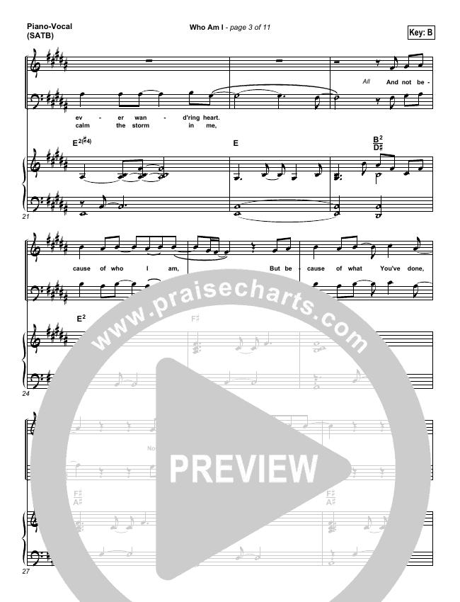 Who Am I Piano/Vocal (SATB) (Casting Crowns)