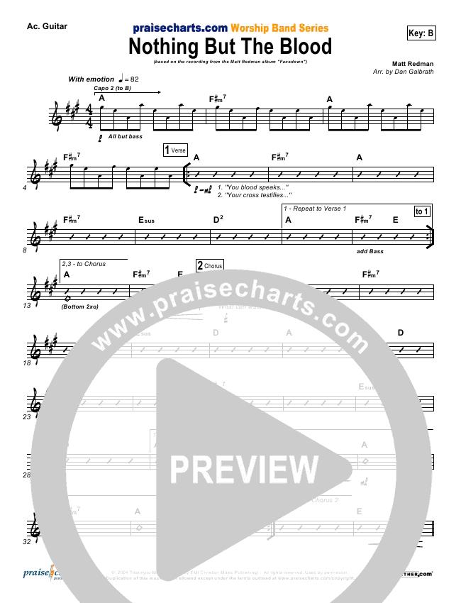 Nothing But The Blood Rhythm Chart (Matt Redman)
