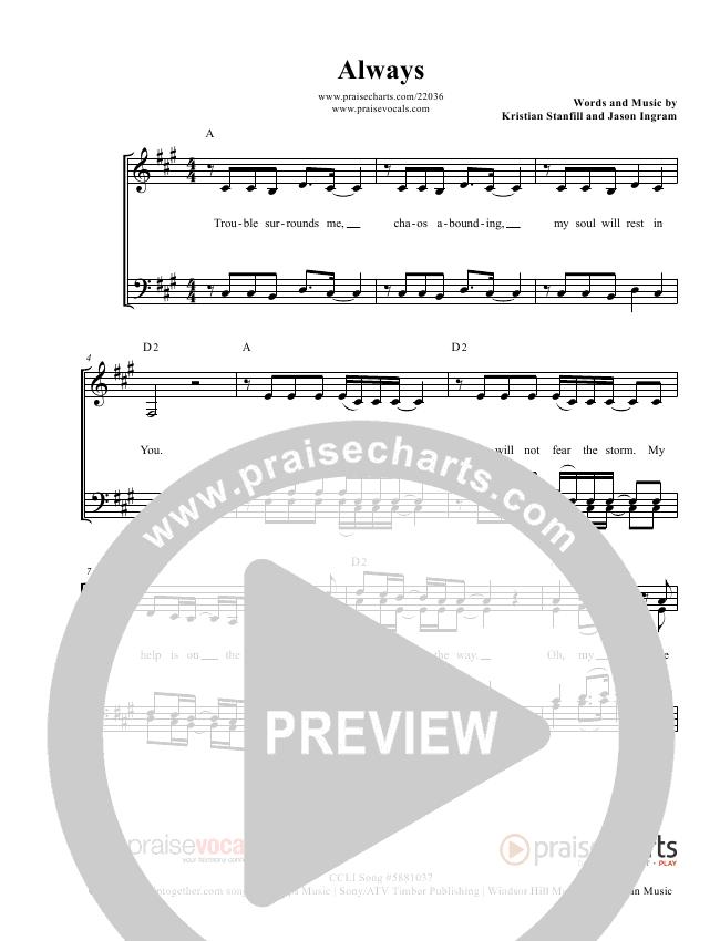 Always Lead Sheet (PraiseVocals)