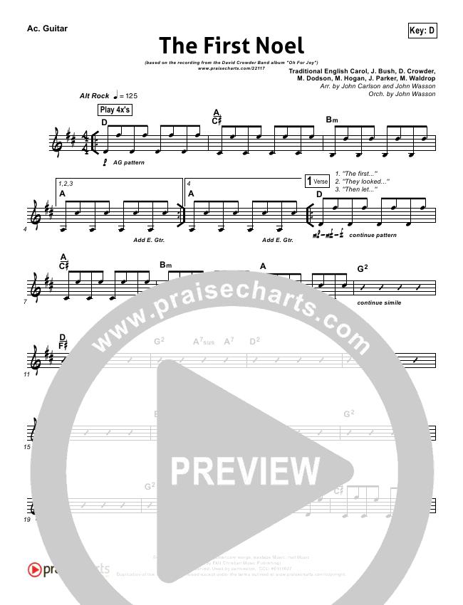 The First Noel Rhythm Chart David Crowder Praisecharts