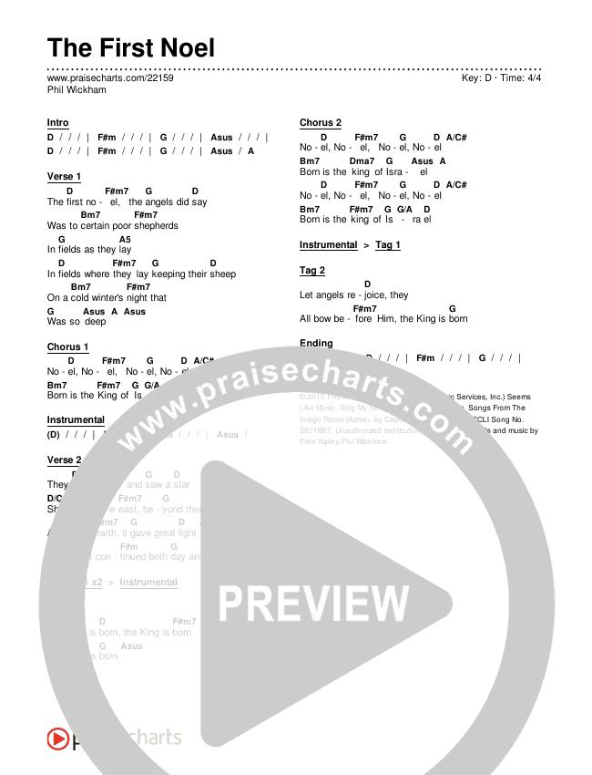 The First Noel Chords & Lyrics (Phil Wickham)
