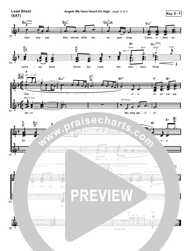 Angels We Have Heard On High Orchestration & Finale (PraiseCharts Band / Arr. Dan Galbraith)