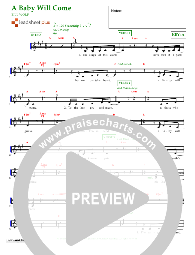 A Baby Will Come Lead Sheet (Emilee Cook)