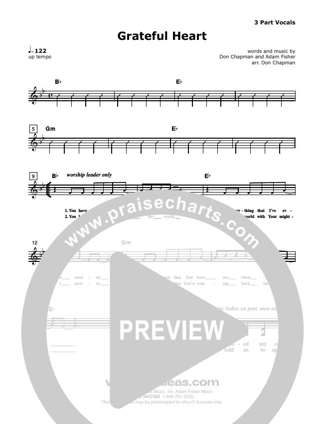 Grateful Heart Lead Sheet (SAT) (Don Chapman)