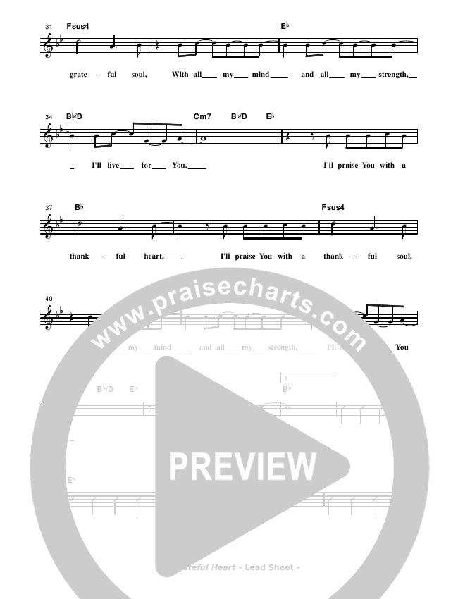 Grateful Heart Lead & Piano/Vocal (Don Chapman)