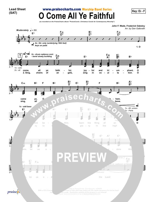 O Come All Ye Faithful Orchestration & Finale (PraiseCharts Band / Arr. Dan Galbraith)