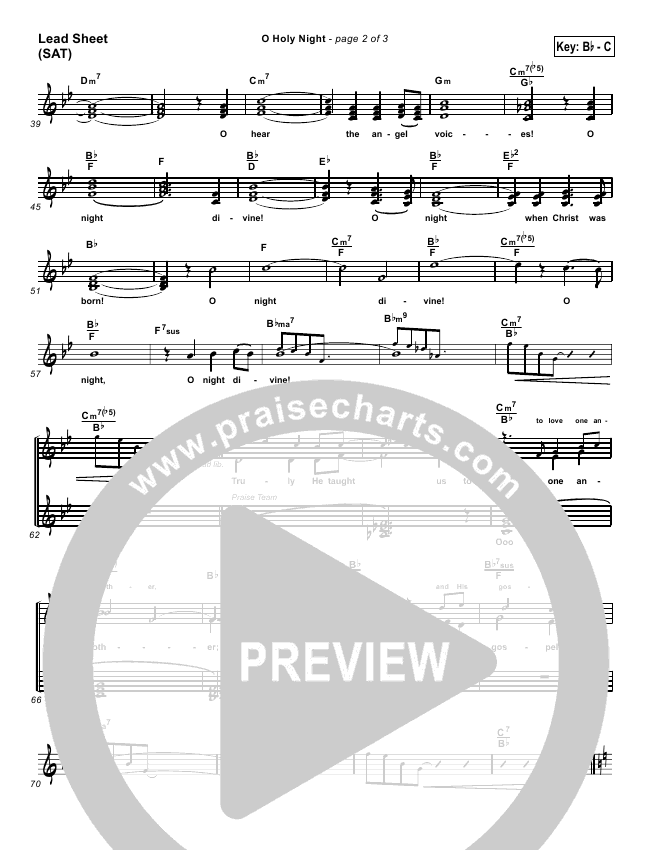 O Holy Night Orchestration & Finale (PraiseCharts Band)