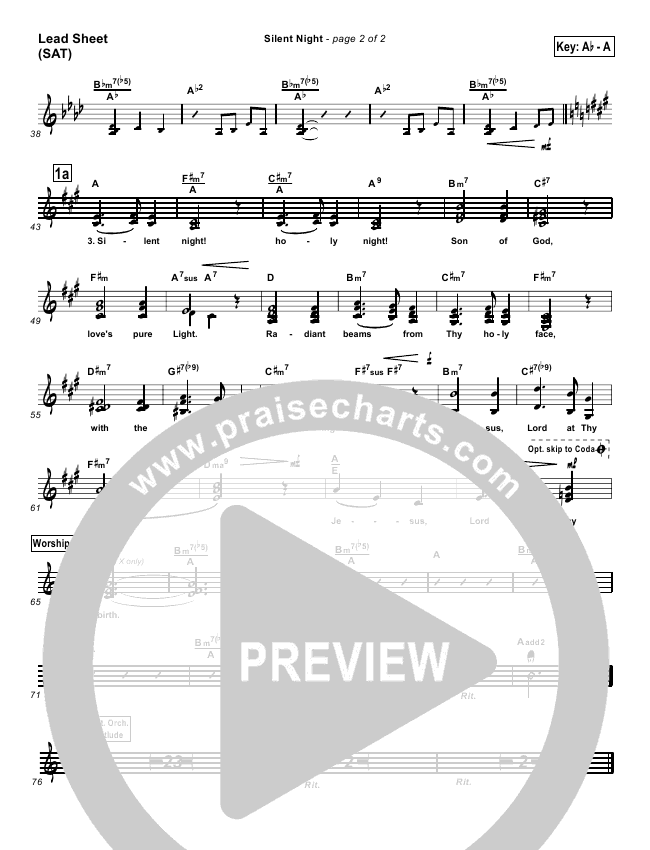 Silent Night Lead & Piano/Vocal (PraiseCharts Band)