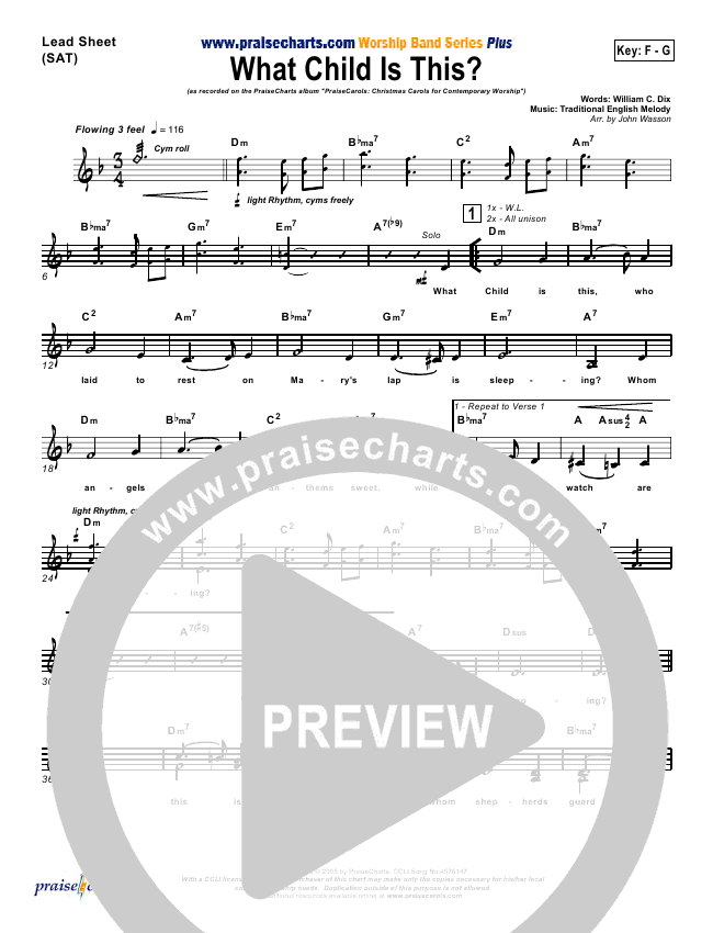 What Child Is This Orchestration & Finale (PraiseCharts Band)